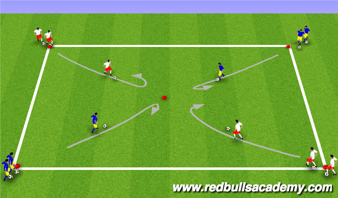 Football/Soccer Session Plan Drill (Colour): Inside Cut turn