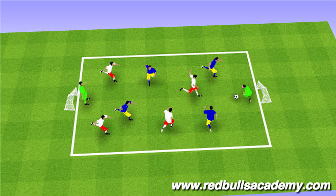 Football/Soccer Session Plan Drill (Colour): Free Play- Shot-Stopping Challenge