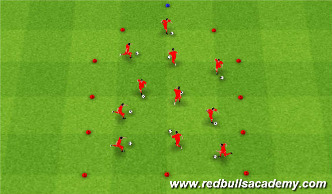 Football/Soccer Session Plan Drill (Colour): Pirates With Ball