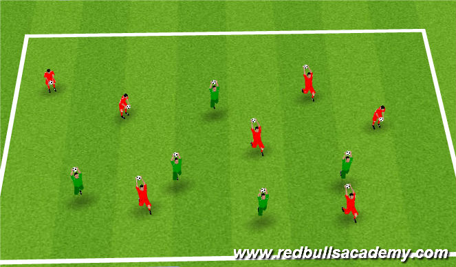 Football/Soccer Session Plan Drill (Colour): motor skill warm up