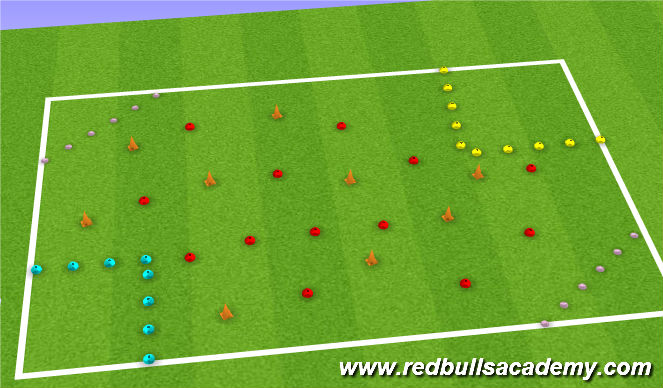 Football/Soccer Session Plan Drill (Colour): space mission