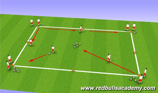 Football/Soccer Session Plan Drill (Colour): Treasure Trove