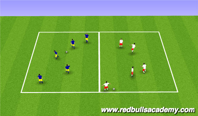 Football/Soccer Session Plan Drill (Colour): Passing & Moving