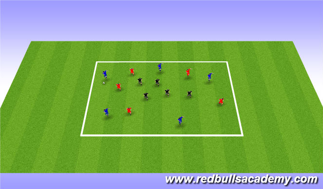 Football/Soccer Session Plan Drill (Colour): 10 on 5 Possession