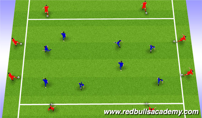 Football/Soccer Session Plan Drill (Colour): Passing and Receving