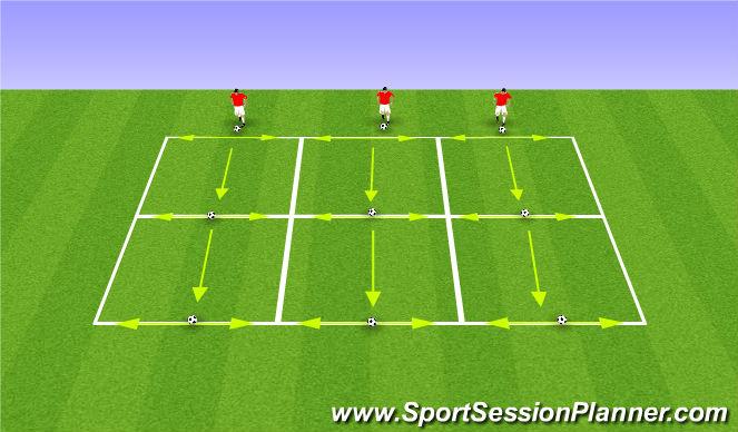Football/Soccer Session Plan Drill (Colour): Tekkers Lane