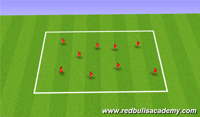 Football/Soccer Session Plan Drill (Colour): Feint intro