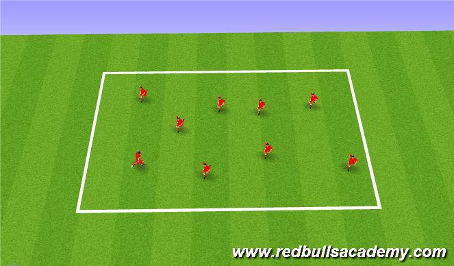 Football/Soccer Session Plan Drill (Colour): Feint intro