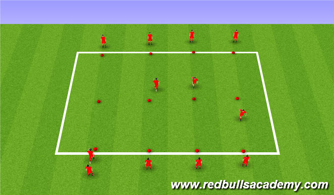 Football/Soccer Session Plan Drill (Colour): feint practice
