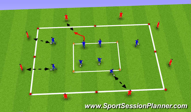 Football/Soccer Session Plan Drill (Colour): Chelsea Square