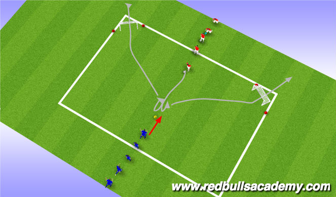 Football/Soccer Session Plan Drill (Colour): MAIN THEME : OPPOSED