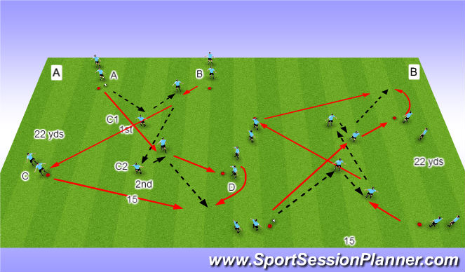 Football/Soccer Session Plan Drill (Colour): P/R PSV