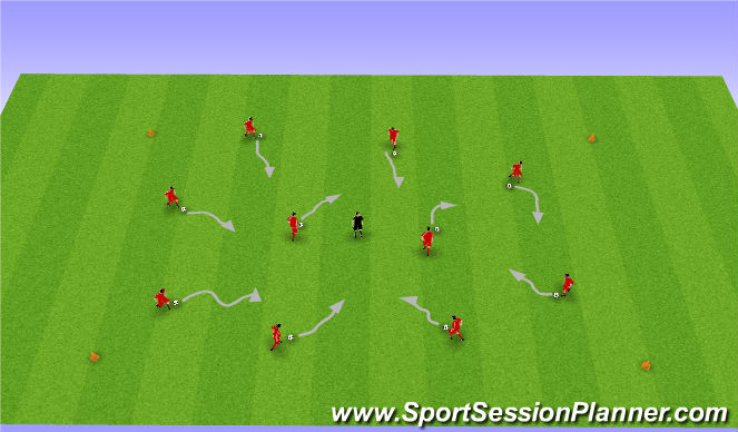 Football/Soccer Session Plan Drill (Colour): Dribbling & Comands