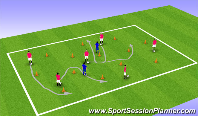 Football/Soccer Session Plan Drill (Colour): Activity Two