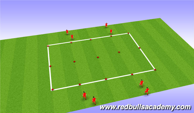 Football/Soccer Session Plan Drill (Colour): 1 to 1 (if ready)