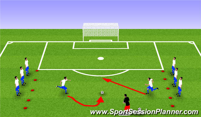 Football/Soccer Session Plan Drill (Colour): Battle of the Superstars - 10-15 minutes