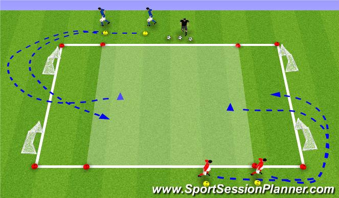 Football/Soccer Session Plan Drill (Colour): 2:2 | snelheid