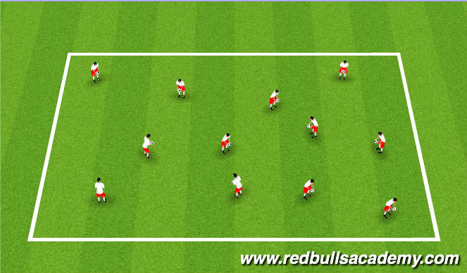 Football/Soccer Session Plan Drill (Colour): Juggling Arrival