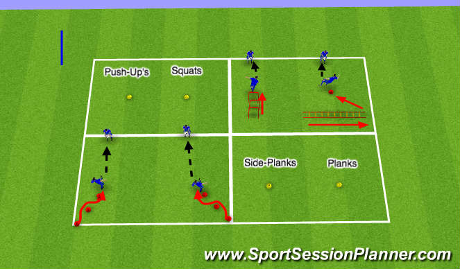Football/Soccer Session Plan Drill (Colour): Power and Agility