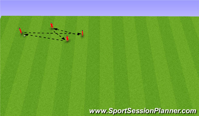 Football/Soccer Session Plan Drill (Colour): Warm Up 1 Modified