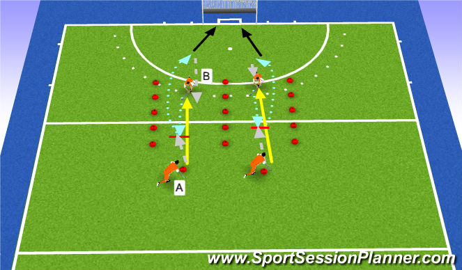 Hockey Session Plan Drill (Colour): drill2: blocktackle