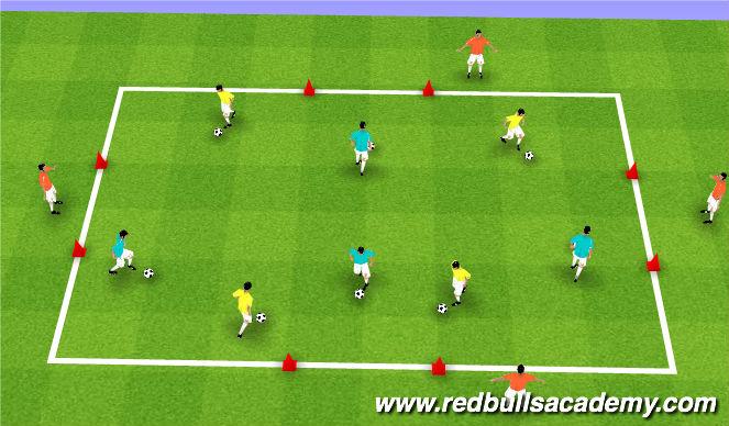 Football/Soccer Session Plan Drill (Colour): Ian Barker - Doors