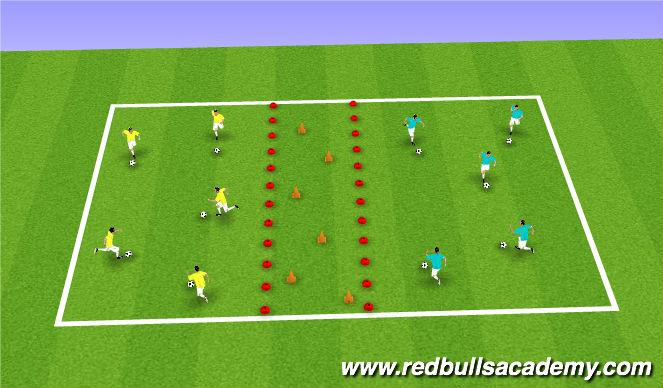 Football/Soccer Session Plan Drill (Colour): Astriod Belt