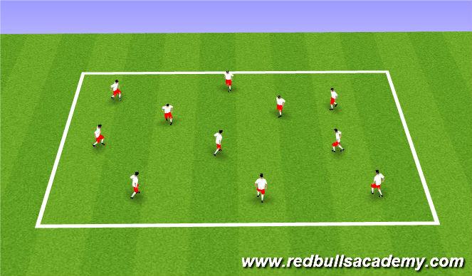 Football/Soccer Session Plan Drill (Colour): Flag Tag