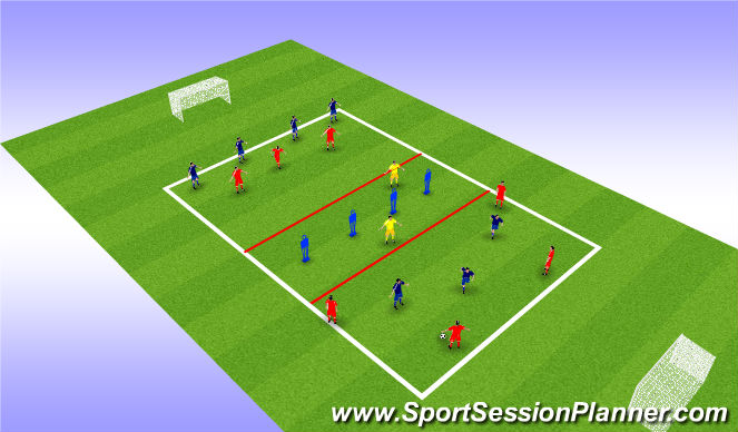 Football/Soccer Session Plan Drill (Colour): Break Out SSG