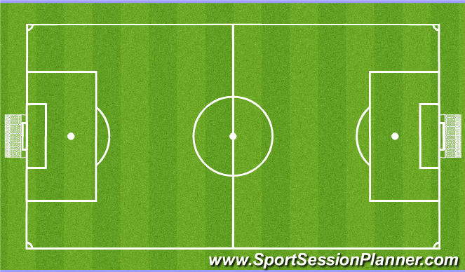 Football/Soccer Session Plan Drill (Colour): SSG 7 v 7