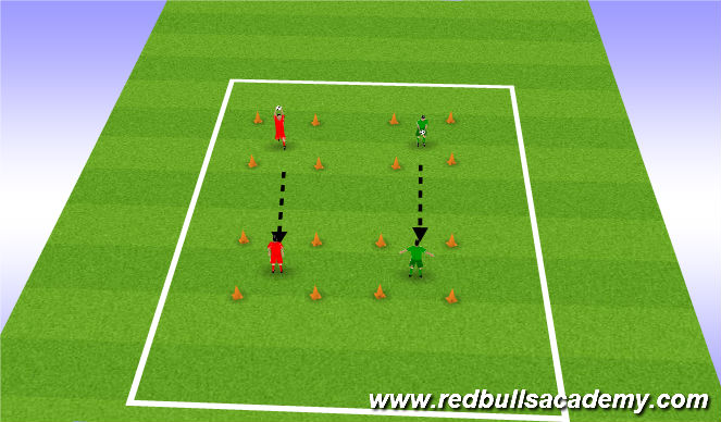 Football/Soccer Session Plan Drill (Colour): control in tight spaces