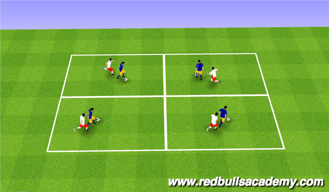 Football/Soccer Session Plan Drill (Colour): Close Down and Win