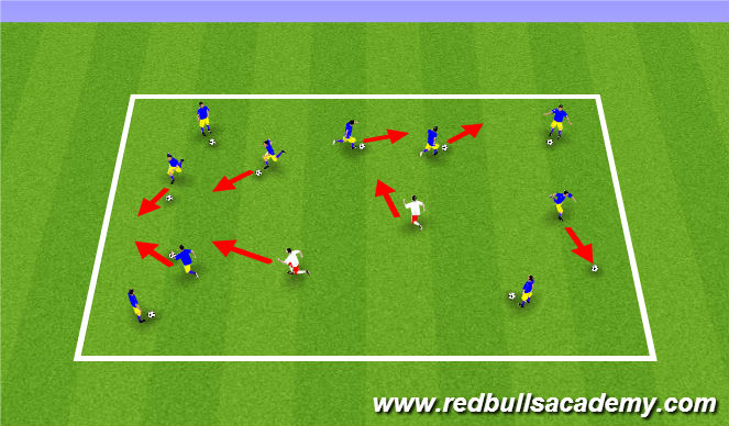 Football/Soccer Session Plan Drill (Colour): Pirates