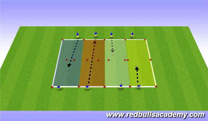 Football/Soccer Session Plan Drill (Colour): Champions League Passing grids