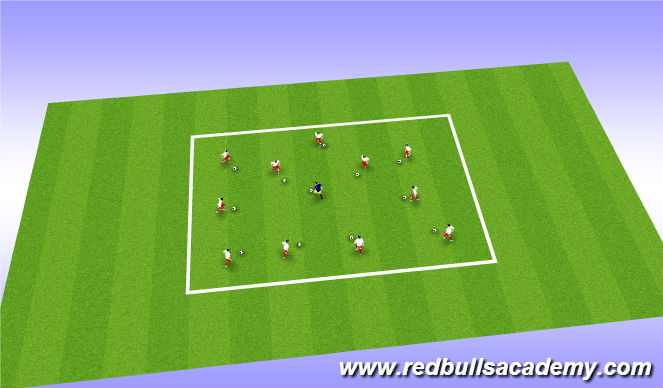 Football/Soccer Session Plan Drill (Colour): Warm Up/Ball Mastery/copy cat