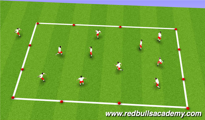 Football/Soccer Session Plan Drill (Colour): Cops & Robbers