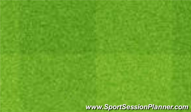 Football/Soccer Session Plan Drill (Colour): Dotknij linę.