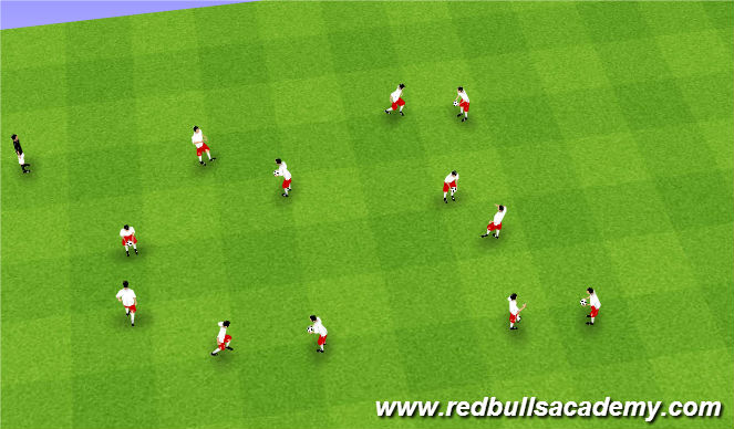 Football/Soccer Session Plan Drill (Colour): Juggling Intro