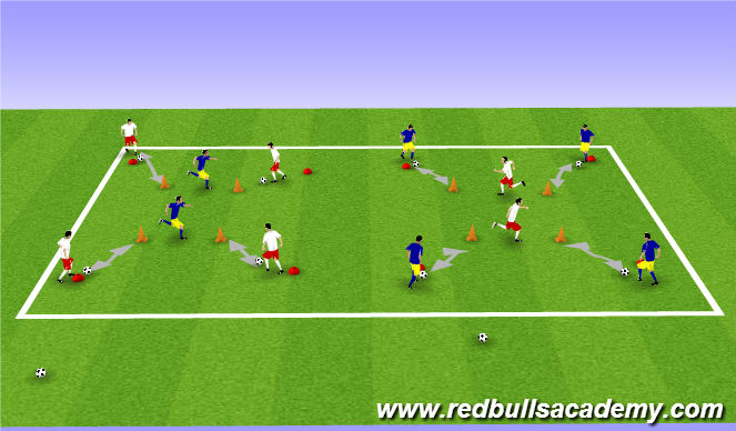 Football/Soccer Session Plan Drill (Colour): Main 1