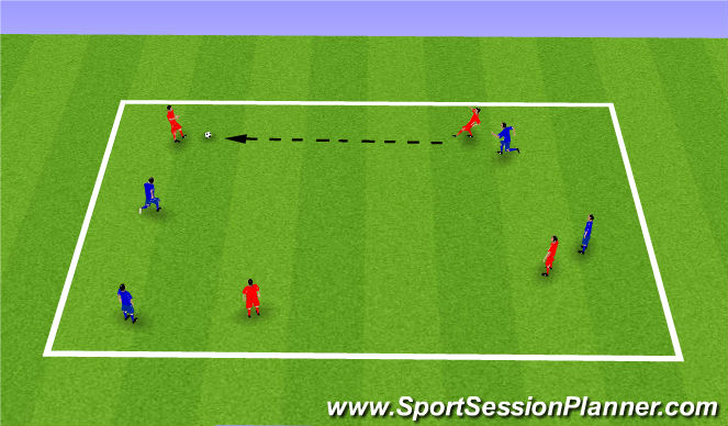 Football/Soccer Session Plan Drill (Colour): Warm Up- Keep ball
