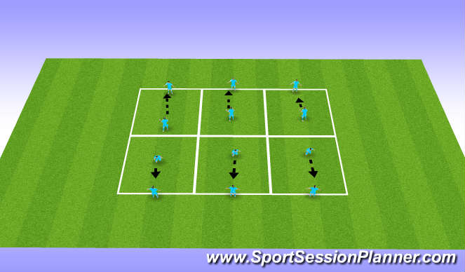 Football/Soccer Session Plan Drill (Colour): Heading technique