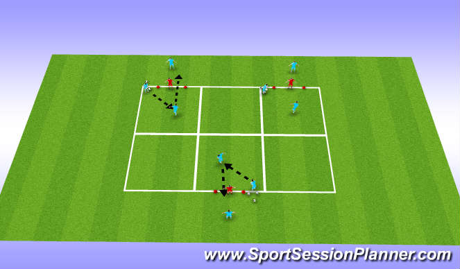 Football/Soccer Session Plan Drill (Colour): Heading at goalkeeper
