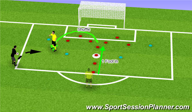 Football/Soccer Session Plan Drill (Colour): Hook to Left