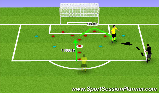 Football/Soccer Session Plan Drill (Colour): Hook to Right