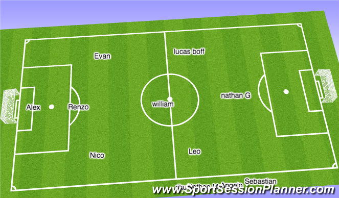 Football/Soccer Session Plan Drill (Colour): Subs 13 minutes in