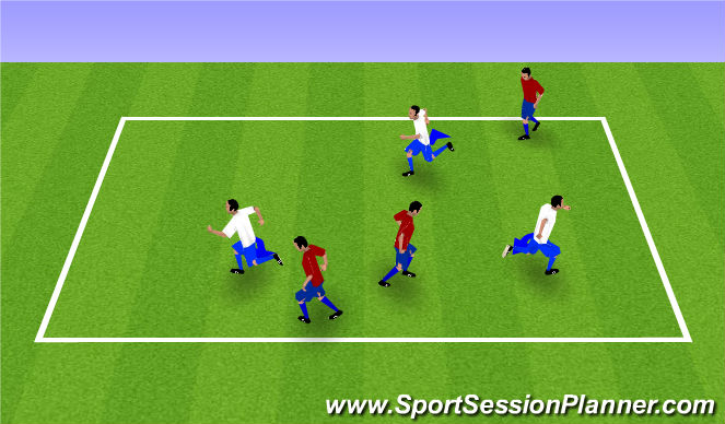 Football/Soccer Session Plan Drill (Colour): Foxes and Farmers/ Step Over