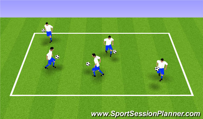 Football/Soccer Session Plan Drill (Colour): Activator/Warm-Up
