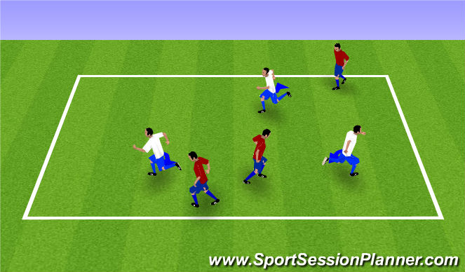 Football/Soccer Session Plan Drill (Colour): Foxes & Farmers/Scissor