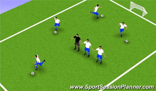 Football/Soccer Session Plan Drill (Colour): Warm-Up - Blob Tag