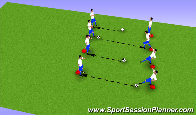 Football/Soccer Session Plan Drill (Colour): The Push Pass